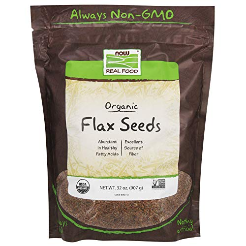 NOW Foods, Organic Flax Seeds, Source of Essential Fatty Acids a...