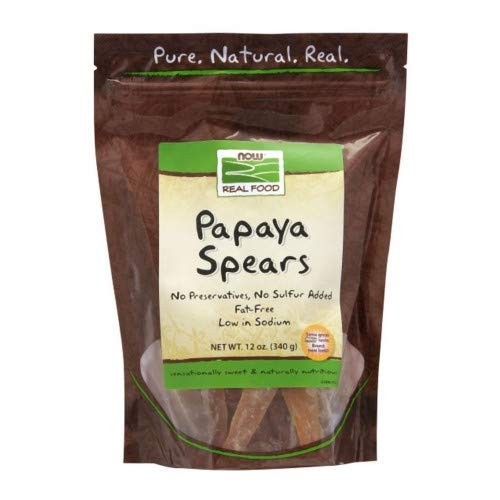 Papaya Spears Low Sugar, 12 oz by Now Foods Pack of 4