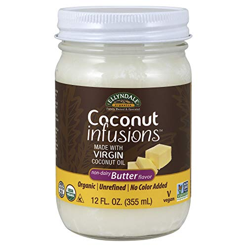 NOW Foods, Certified Organic Coconut Infusions, Non-Dairy Butter...