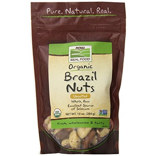 Now Foods Organic Brazil Nuts, 10 Ounce Pack of 2