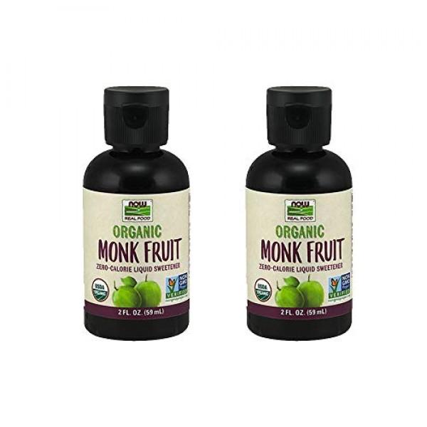 NOW Foods Monk Fruit Liquid Organic, 2 Fluid Ounce 2 Pack