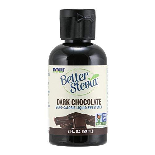 NOW Foods, Better Stevia Liquid, Dark Chocolate, Zero-Calorie Li...
