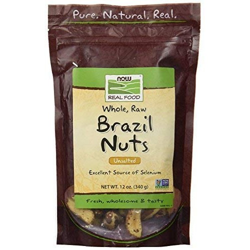 NOW Foods Brazil Nuts, Raw, 12-Ounce Bag Pack of 2