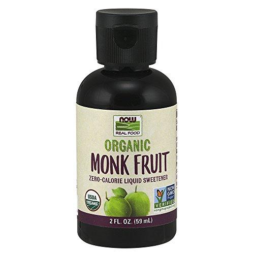 NOW Foods, Certified Organic Monk Fruit Liquid, Zero-Calorie Liq...