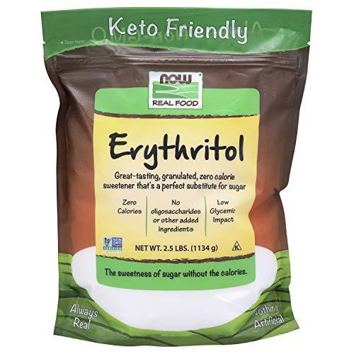 NOW Foods, Erythritol, Great-Tasting Substitute for Sugar, Zero ...