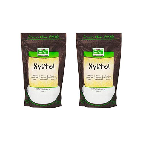 NOW Foods Xylitol, 1 Pound 2 Pack