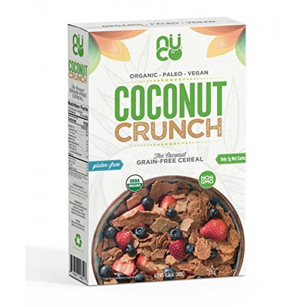 NUCO Certified ORGANIC Paleo Gluten Free Coconut Crunch Cereal, ...
