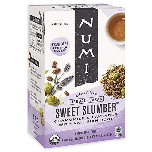 Numi Organic Tea Sweet Slumber with Chamomile, Valerian Root & L...
