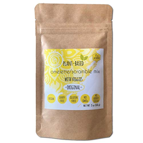 Plant Based Omelet/Scramble Mix with veggies 6 x 2 oz Packs|Or...