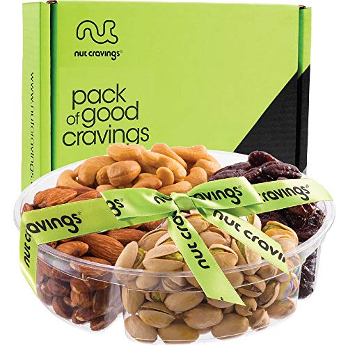 Gourmet Gift Basket Assortment, Fresh Nuts Mix Tray 4 Variety ...