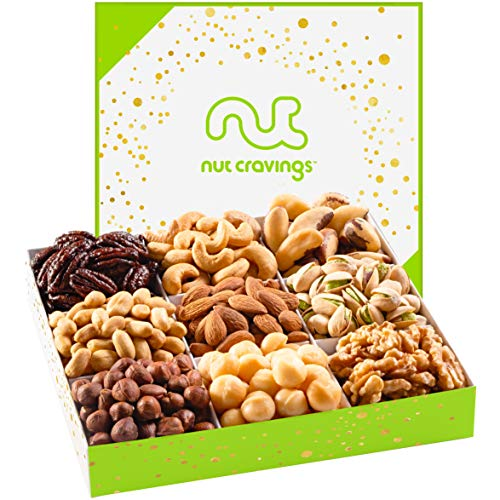 Holiday Mixed Nuts Gift Basket, Gourmet Mix of Assorted Fresh Nu...