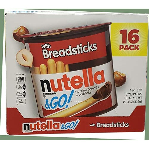 Nutella & Go Hazlenut Spread with Breadsticks Ferrero 16 Pack - ...