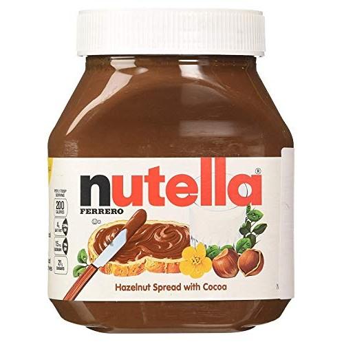 NUTELLA FERRERO, 2 JARS- 26.5 OUNCE, HAZELNUT SPREAD by Nutella