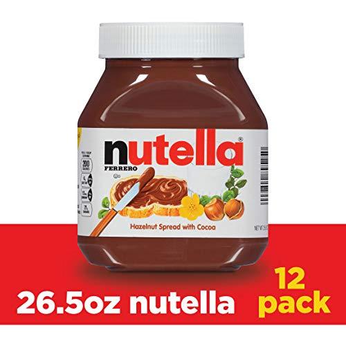 Nutella Chocolate Hazelnut Spread, 26.5 oz Jar, 12 Pack
