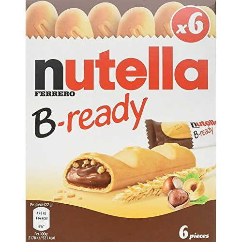 Nutella B-ready 6 bar multipack 132 g Pack of 2