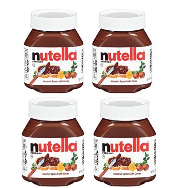 Nutella Ferrero Hazelnut Spread with Cocoa,7.7 Ounce Pack of 4