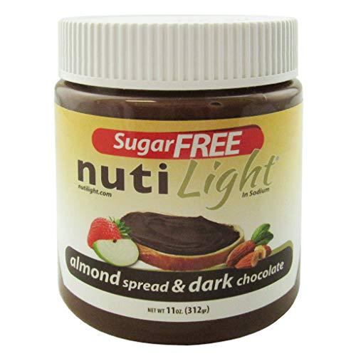 Nutilight Sugar-Free Keto-friendly Almond Spread and Dark Chocol...