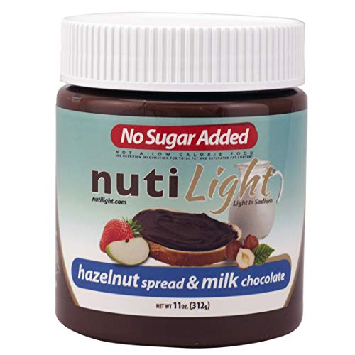 Nutilight No Sugar Added Keto-friendly Hazelnut Spread and Milk ...