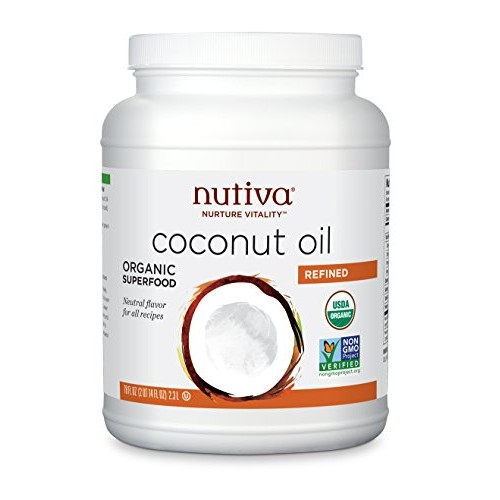 Nutiva Organic, Neutral Tasting, Steam Refined Coconut Oil, 78 F...