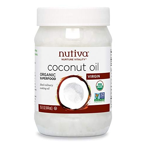 Nutiva Organic, Unrefined, Virgin Coconut Oil, 15 Fl Oz Pack of 1
