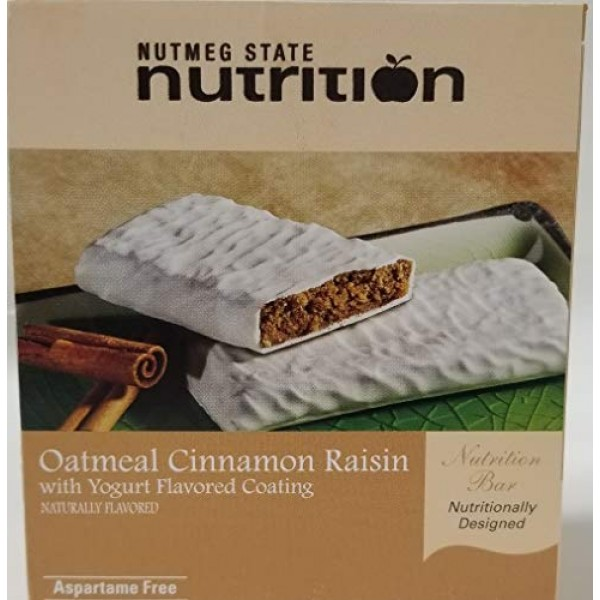Nutmeg State Nutrition High Protein Snack Bar/Diet Bars -Oatmeal...