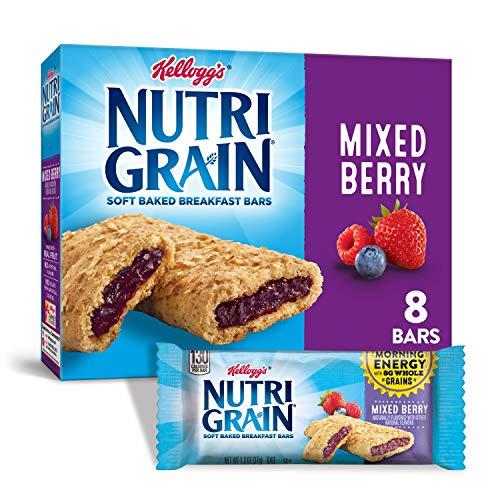 Kelloggs Nutri-Grain, Soft Baked Breakfast Bars, Mixed Berry, M...