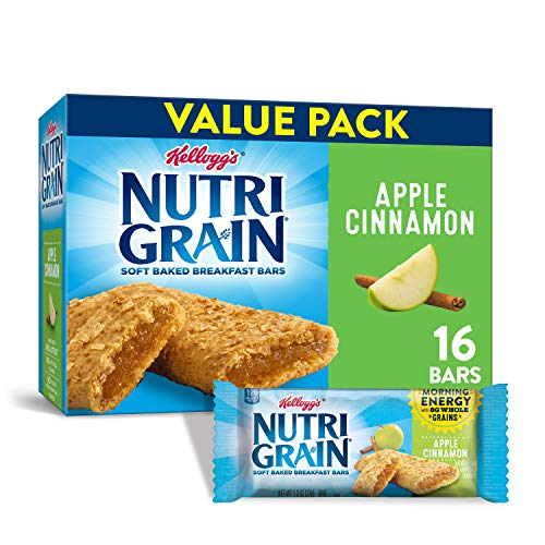 Kelloggs Nutri-Grain Soft Baked Apple Cinnamon Breakfast Bars -...