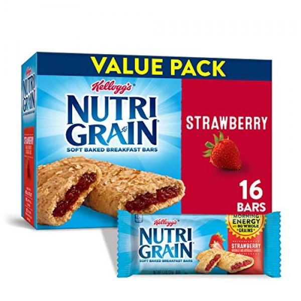Kelloggs Nutri-Grain Soft Baked Strawberry Breakfast Bars - Sch...