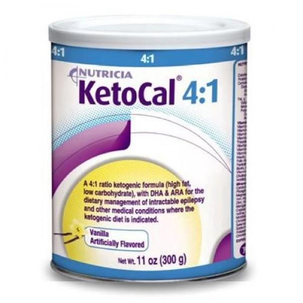 KetoCal Powder 4 to1 Ratio Formula, 6 Units 11 oz