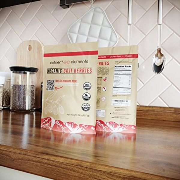 2 lbs/32oz Premium Organic, Raw & Dried Goji Berries - USDA Cert...