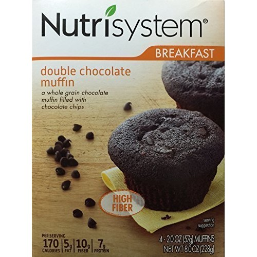Nutrisystem Breakfast Double Chocolate Muffin, 4 - 2.0 OZ 57g ...