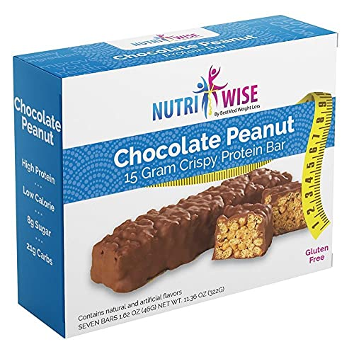 NutriWise - Chocolate Covered Peanut Diet Protein Bars 7 bars