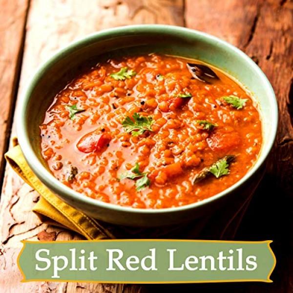 100% Natural Split Red Lentils - Protein Vitamins & fibre-rich M...
