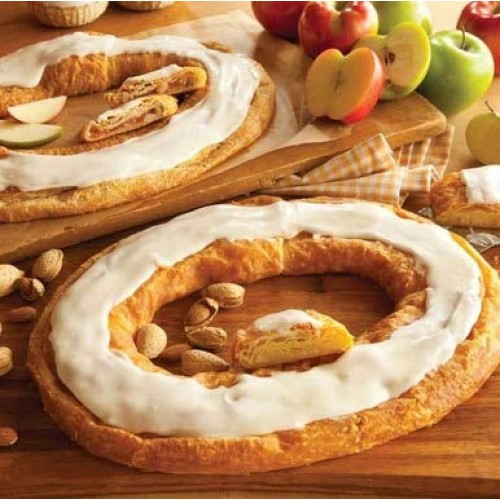 Danish Kringle Pair - Apple and Almond