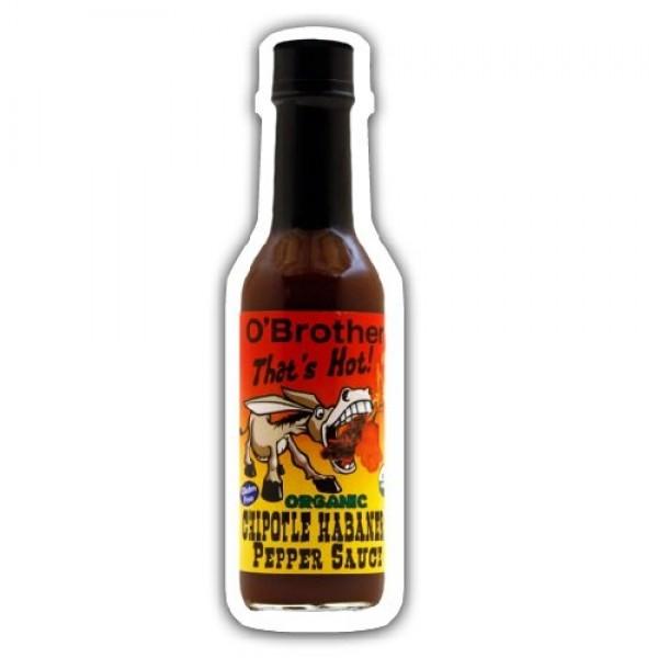 O BROTHERS Organic Hot Sauce Chipotle Habanero, 5 FZ