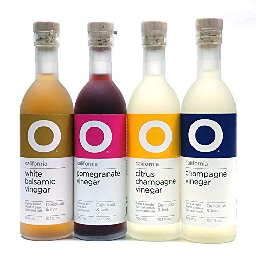O Olive Oil Vinegar 4 Variety Pack - Citrus Champagne Vinegar, P...