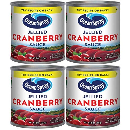 Ocean Spray Jellied Cranberry Sauce Pack of 4 8 oz Mini Cans