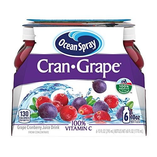 Ocean Spray Juice Drink, Cran-Grape, 10 Ounce Bottle Pack of 6