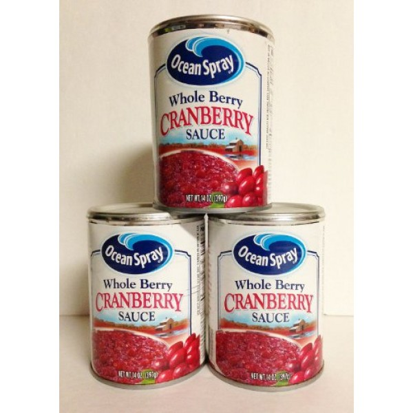 Ocean Spray Whole Berry Cranberry Sauce 14 oz Pack of 3