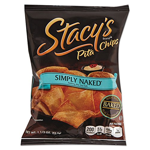 Stacys 52546 Pita Chips, 1.5 oz Bag, Original, 24/Carton