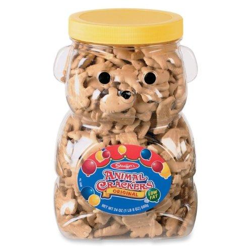 OfficeSnax Stauffers Bear Shaped Animal Crackers, 24 Ounce
