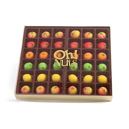 Oh! Nuts Marzipan Candy Fruits, Holiday Marzipans Gift Tray in a...