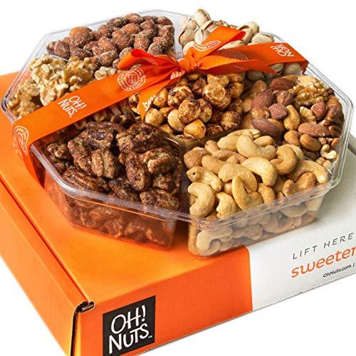 Oh! Nuts Holiday Gift Basket, Roasted Nut Variety Fresh Assortme...