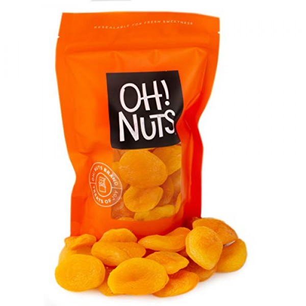 Oh! Nuts Dried Turkish Apricots | Bulk Bag of Fresh Dehydrated S...