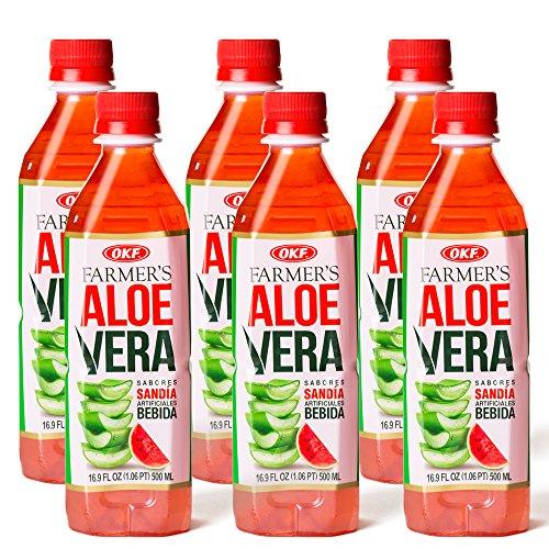 OKF Aloe Vera Watermelon Drink, 16.9 Ounce 10 Pack