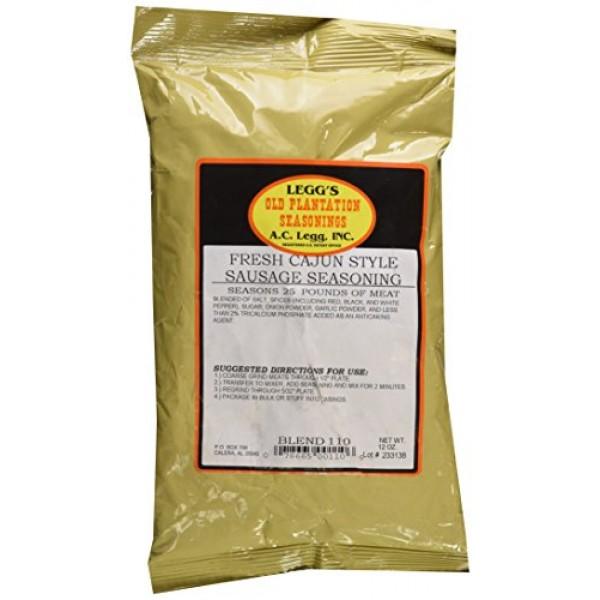A.C. Legg Fresh Cajun Style Sausage Seasoning