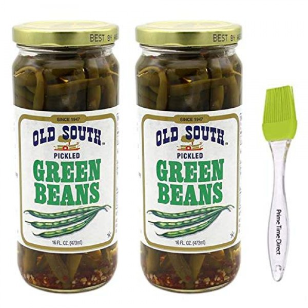 Old South Green Beans 16 oz 2 Pack Bundled with Silicone Basti...