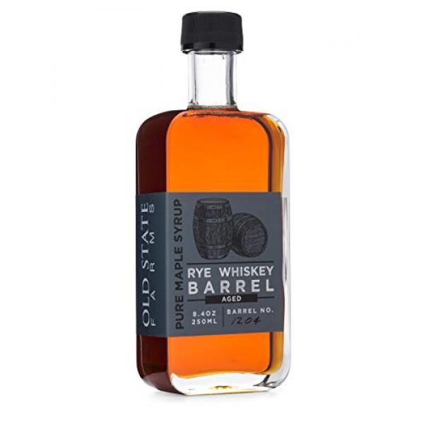 Rye Whiskey Barrel Aged Pure Maple Syrup, 8.4oz, 250ML