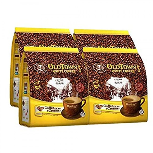 4 Pack Old Town White Coffee 2 in 1 Coffee and Creamer 60 Stic...