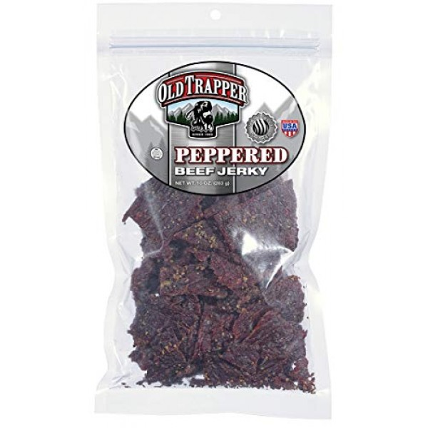 Old Trapper Naturally Smoked Beef Jerky 10oz, Peppered